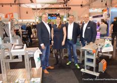 Peter van der Knaap, Jenny Swarts, Martin Stolze (look at his nice shoes!) and Willem Kuijvenhoven of Martin Stolze bv