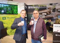 Cheers with a good cup of coffee at the early morning!Henry Mast of Ellepot and Pieter Rienstra of GlobalGreenPact