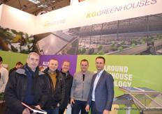 Richard Priestly, Richard Fox, Vasile Agache of Neame Lea Nursery with Bernardo Greeve of KG Greenhouses