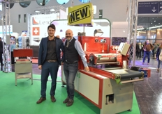 Daniel Da Ros Fabio Camisa with Da Ros, showing the new completely electronic sowing line.