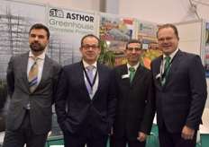 Gustavo Alvarez Prez Manuel Guerrero from Asthor and Ignacio Rodriguez Jan-Willem Lut with Sercom