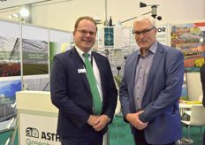 Jan Willem Lut of Sercom joined by Jan Wijgerse of Agrofim.