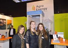 Marjolein de Vries, Ashley Ruis en Eva Wieringa van AgroEnergy