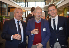 Paul Koppert, Willem Ravensberg en Kees Stolk van gastheer Koppert Biological Systems